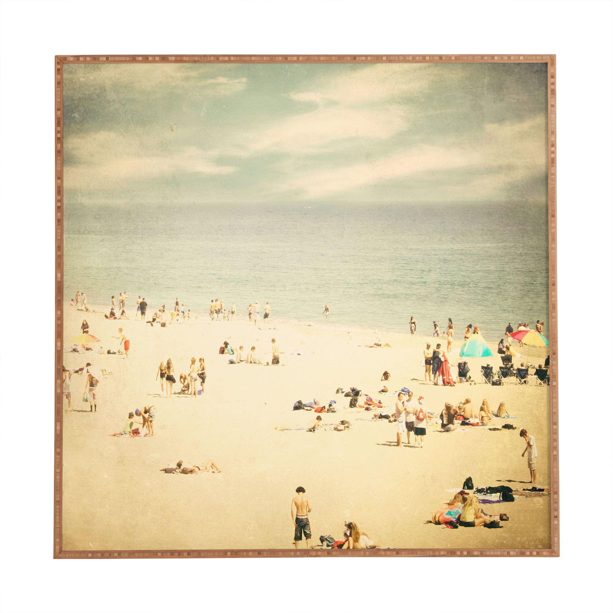 DENY Designs Vintage Beach by Shannon Clark Framed Wall Art ...