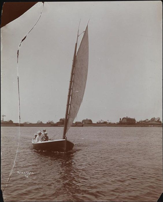 A sailboat in Southhampton, 1897. Photo via MCNY