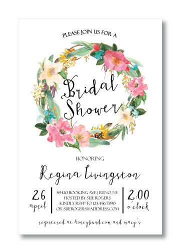 Printable Bridal Shower Invitation By Perfectlyprintables On Etsy