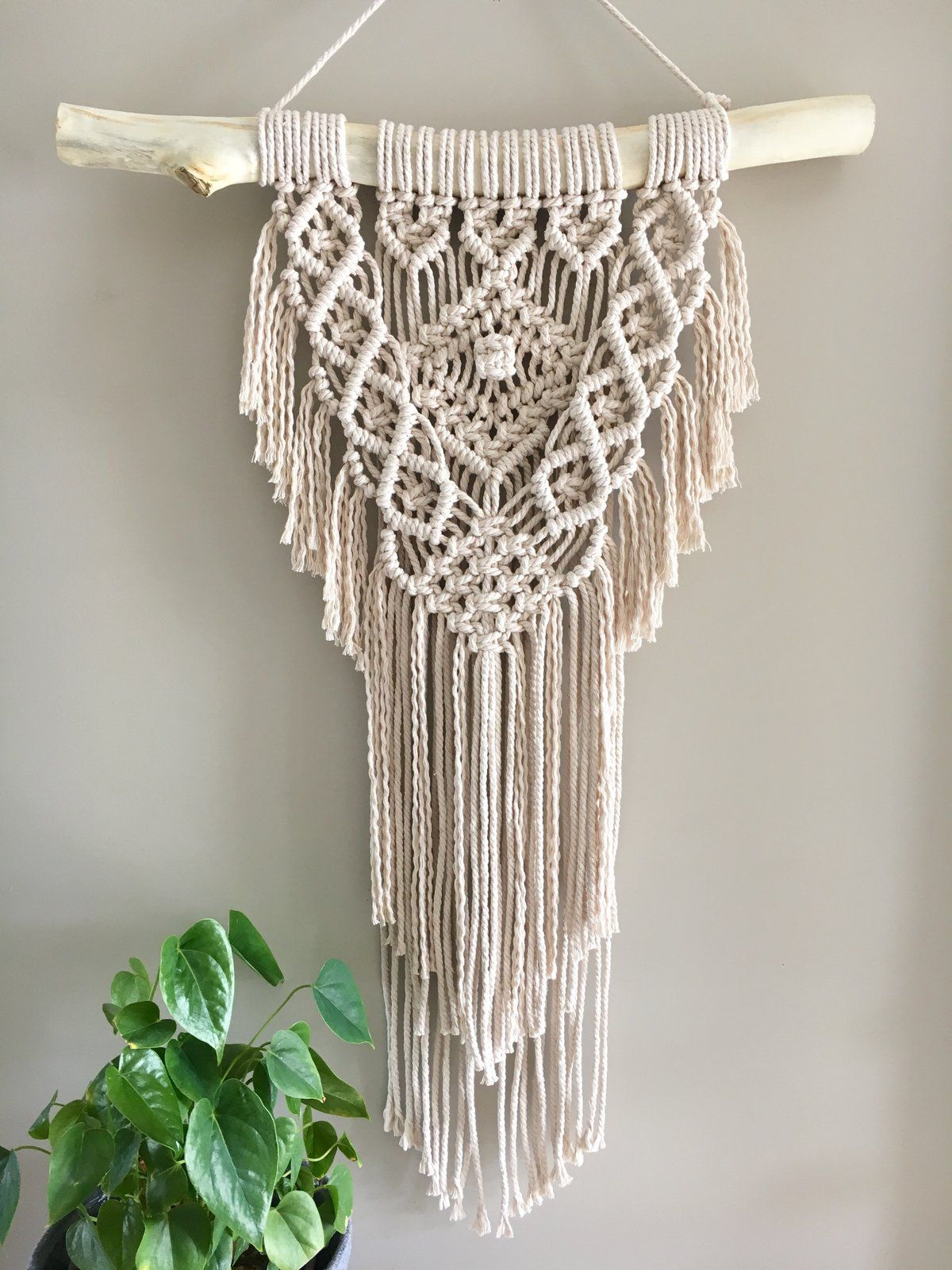 Cleo Möbel Image Of Cleo Macrame Wall Hanging On Tas Oak Dowel Mto