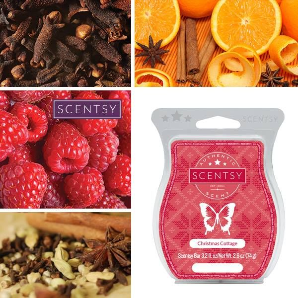 To place an order Please contact me at https://jaimiegambon.scentsy.us  Christmas Cottage Scentsy Bar cozy, inviting blend of Valencia oranges, raspberries, cloves, and spices. One of my personal favorites