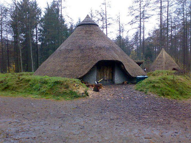Nestled Amongst The Trees Is This Replica Celtic Iron Age