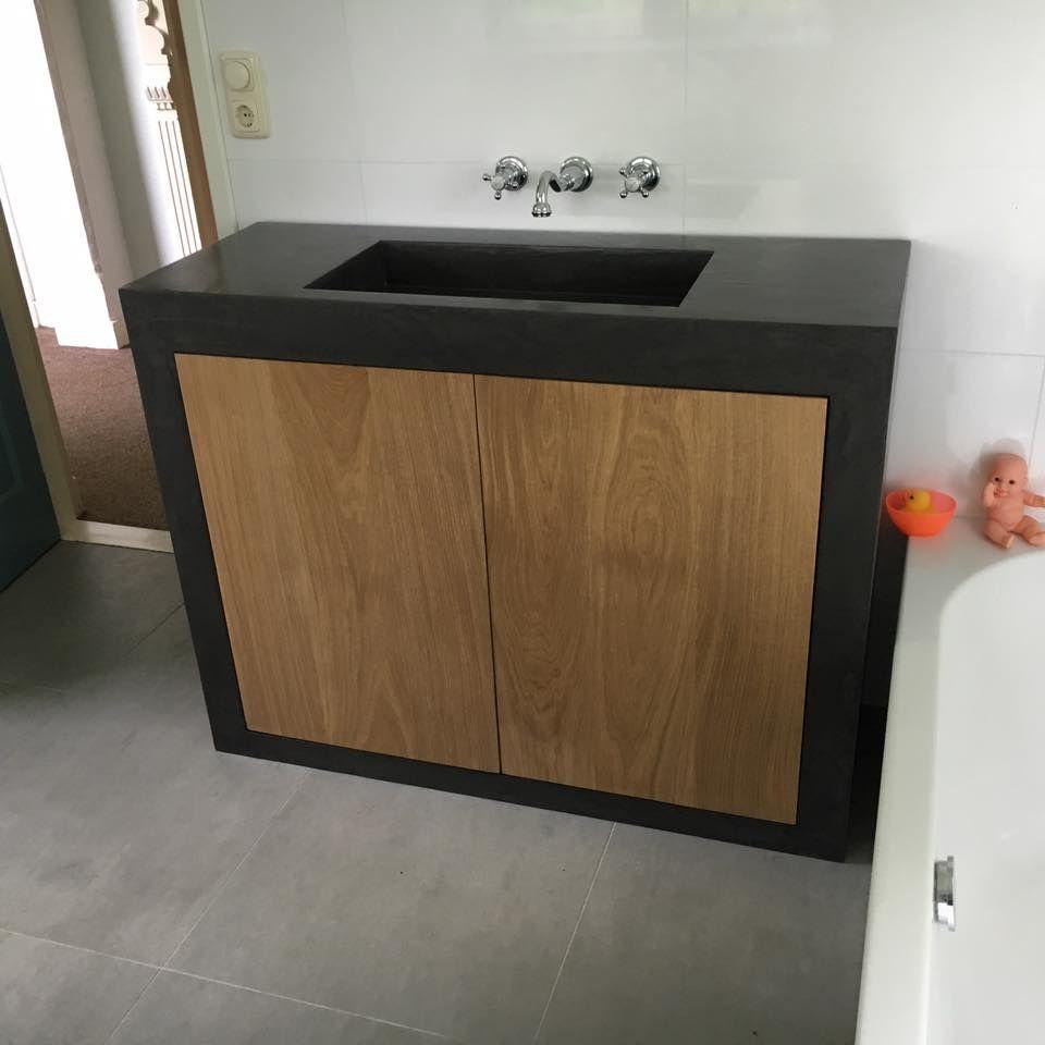 Betonlook badkamermeubel van Betonlook Gemaakt bij Talsma Meubels ...