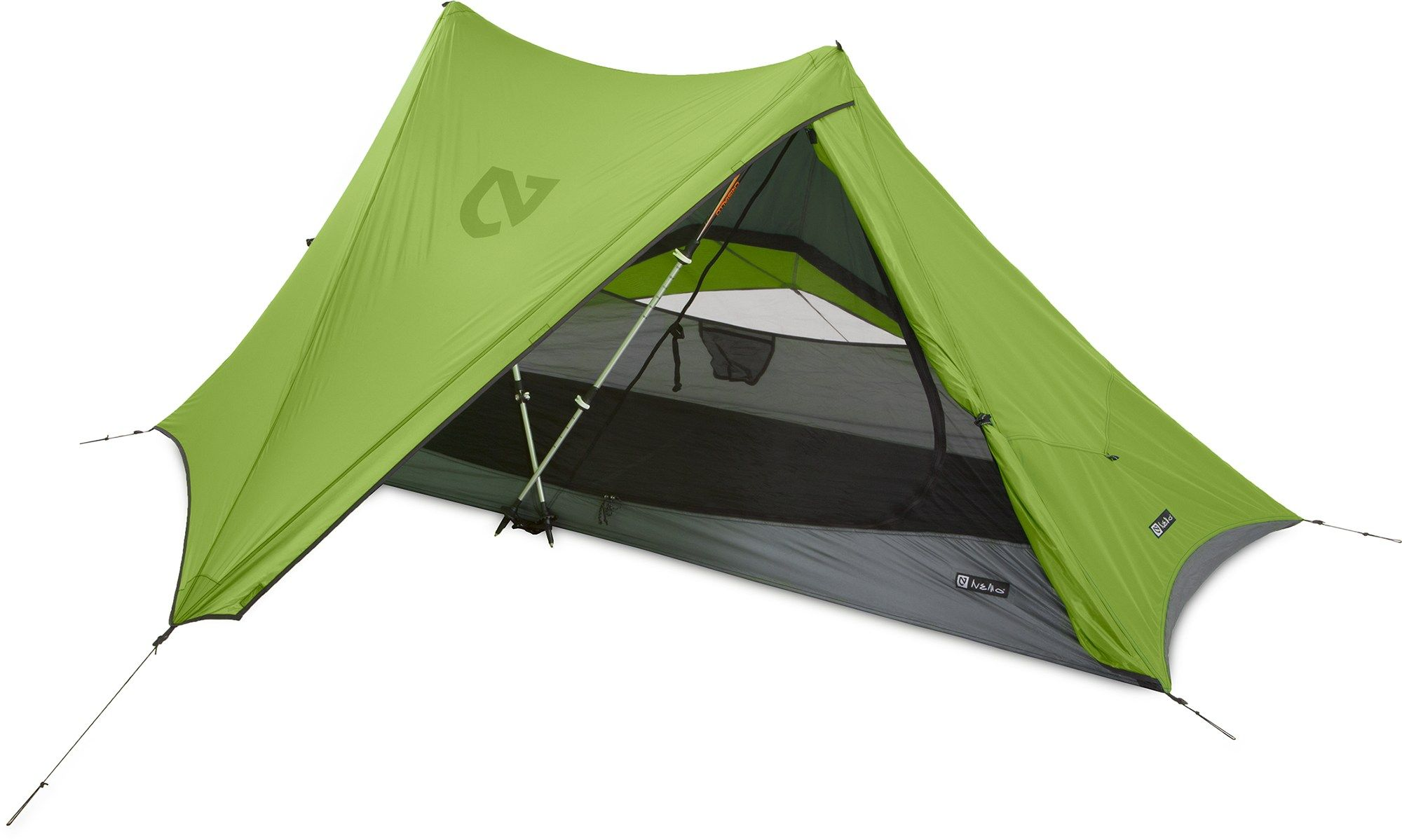 NEMO Veda 1P Tent uses trekking poles instead of additional tent poles to minimize weight  sc 1 st  Pinterest & NEMO Veda 1P Tent uses trekking poles instead of additional tent ...