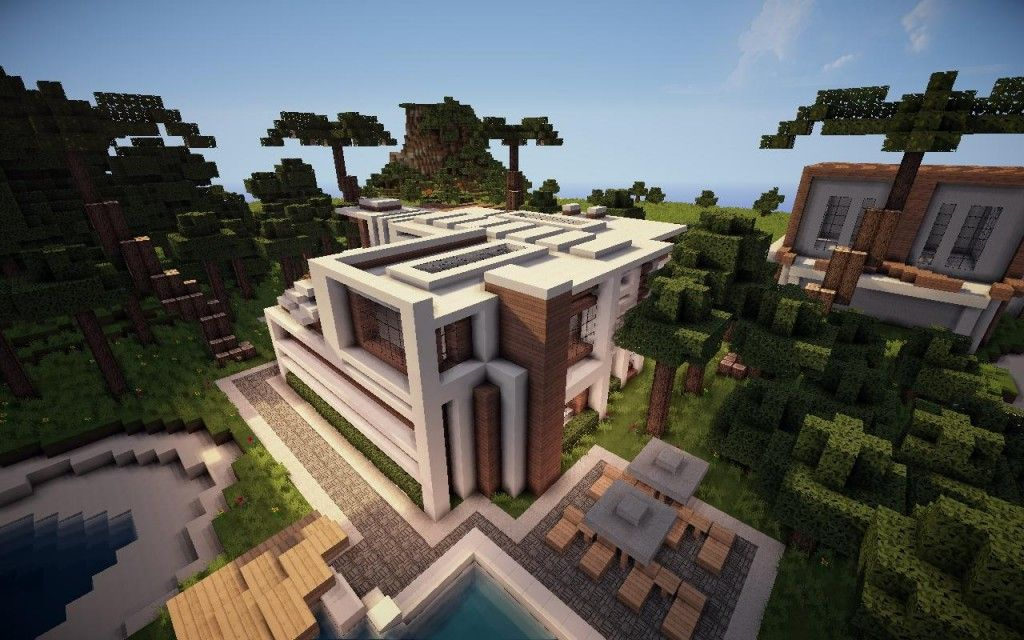 jade modern minecraft house architecture