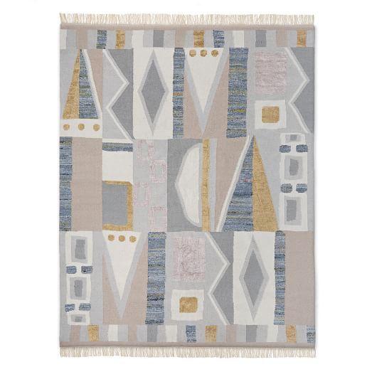 Vienna Wool Kilim Rug Maple Sugar Wool Kilim Rug Kilim Rugs Geometric Pattern Rug