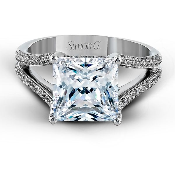 75 of the Prettiest Engagement Rings Princess cut Engagement