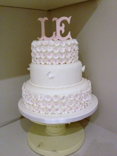 flower wedding cake By bengals on CakeCentral.com