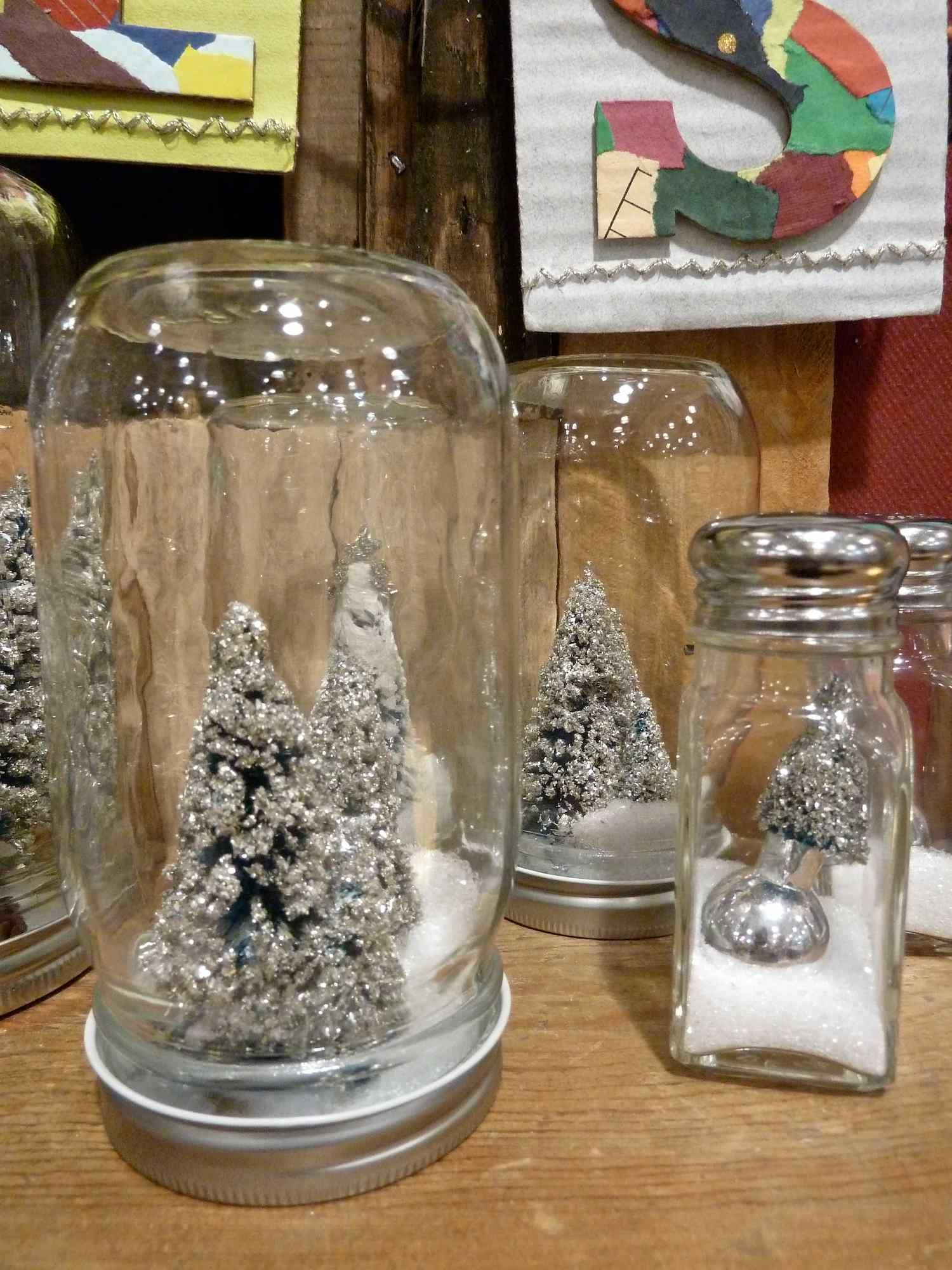 great idea using old pasta jars and sugar sprinklers to make