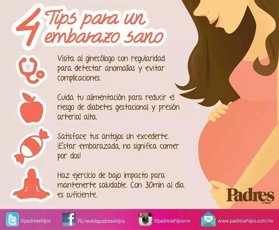 tips para embarazo sano