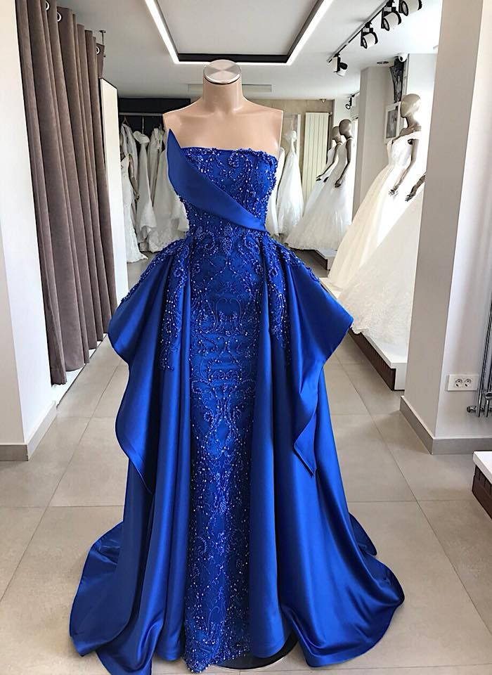Modern Abendkleider Lang König Blau | Abiballkleider ...