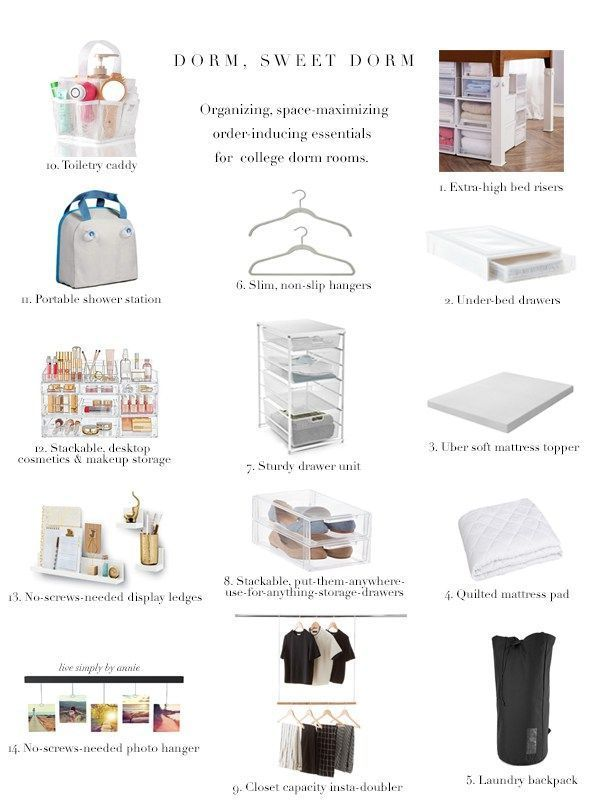 14 Organizing Space-Maximizing Essentials For College Dorm Rooms College Dorm Rooms college Dorm Essentials Organizing rooms SpaceMaximizing #organizingdormrooms