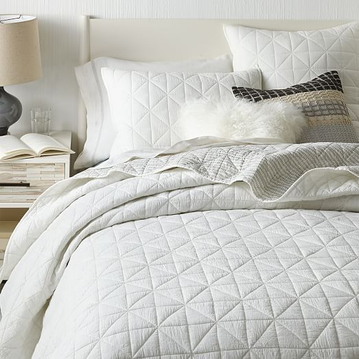Captivating NO | West Elm | Nomad Coverlet, Not Organic Cotton, White Or Graphite,