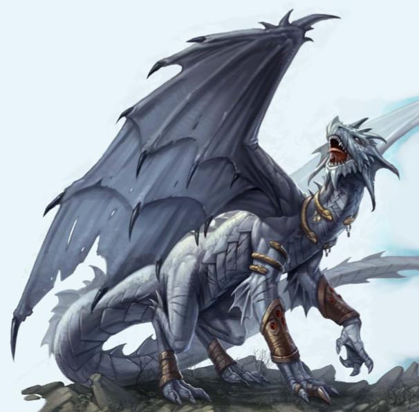 Dnd White Dragon: Pathfinder PFRPG DND D&D D20 Fantasy