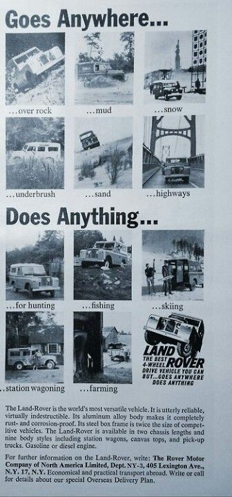 Goes Anywhere... Does Anything...  #LandRover