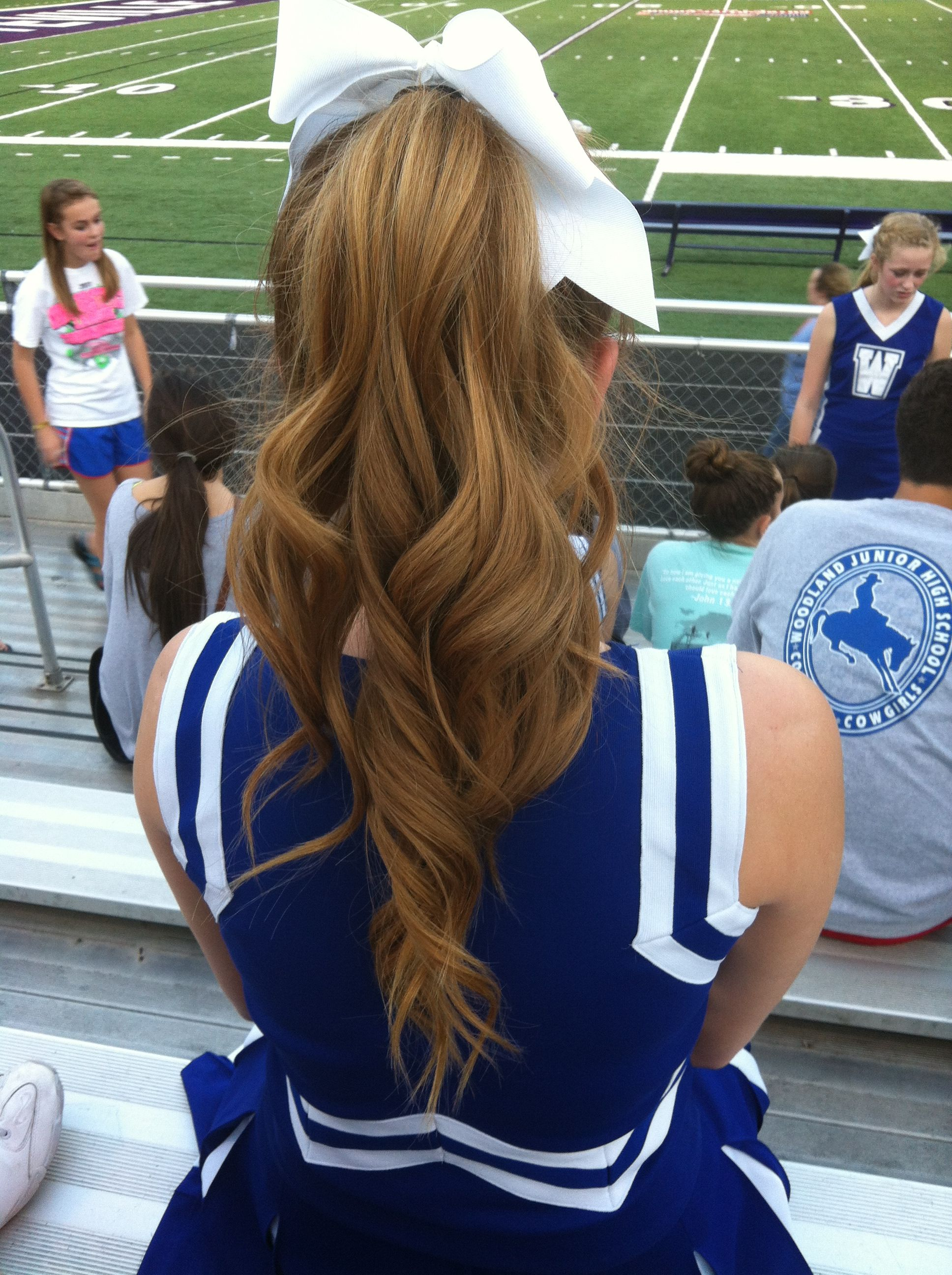 perfect hair for a football game!! haha it's meee!! | lovely