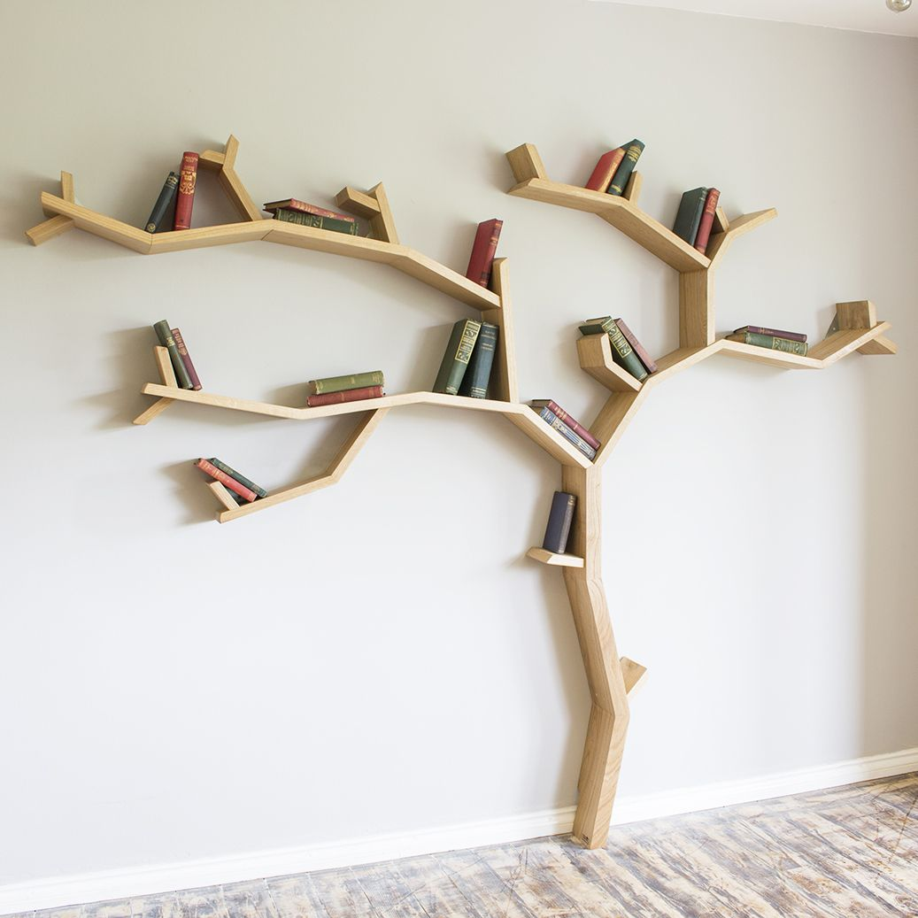Our Beech Tree Shelf Design Shown Here In The Oiled Square Edge - Fallen branch is repurposed to create beautifully unconventional shelf