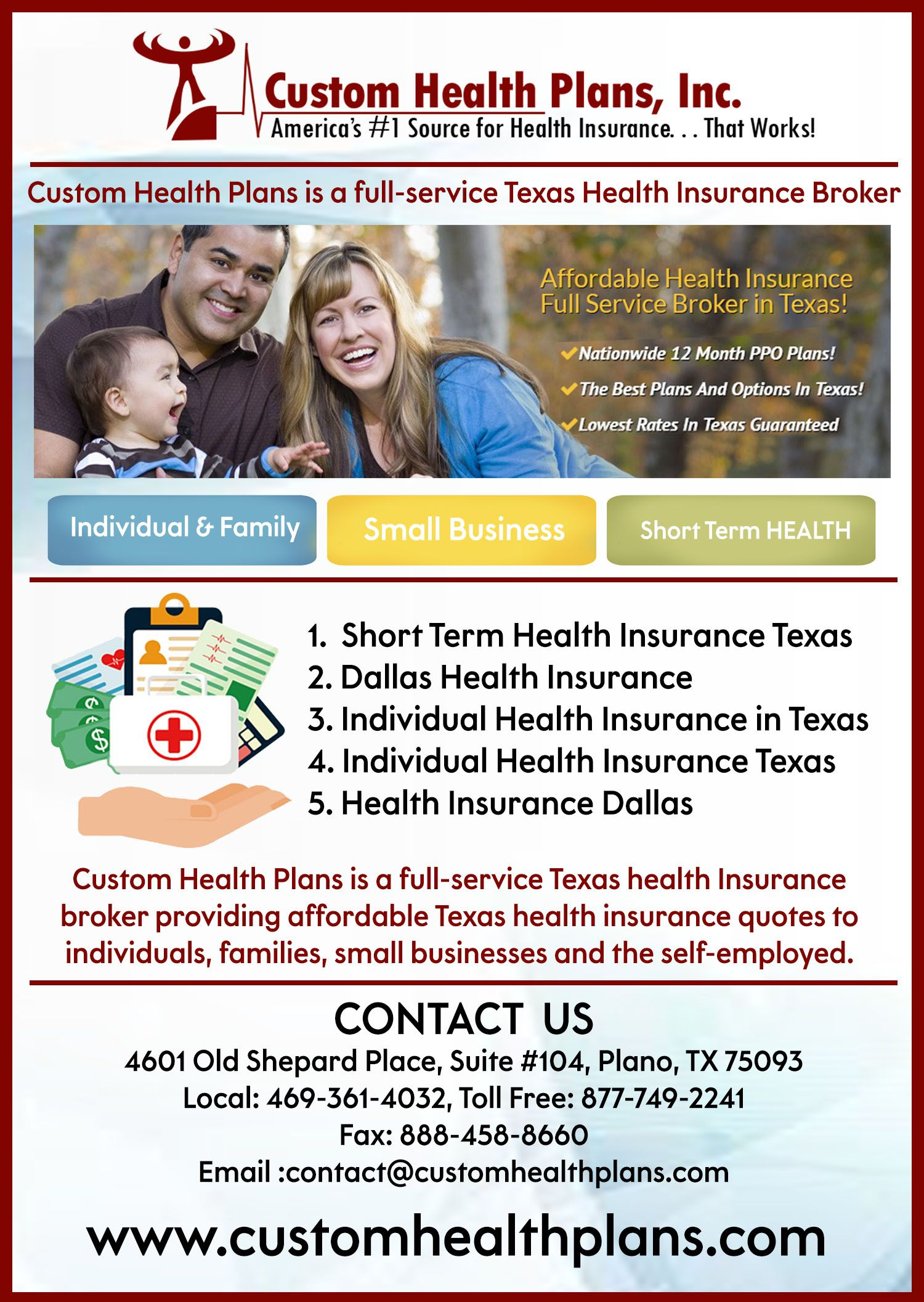 Fulfill Individual Or Group S Health Needs With Short Term Health Insurance Plan From Custo Health Insurance Broker Health Insurance Humor Ppo Health Insurance