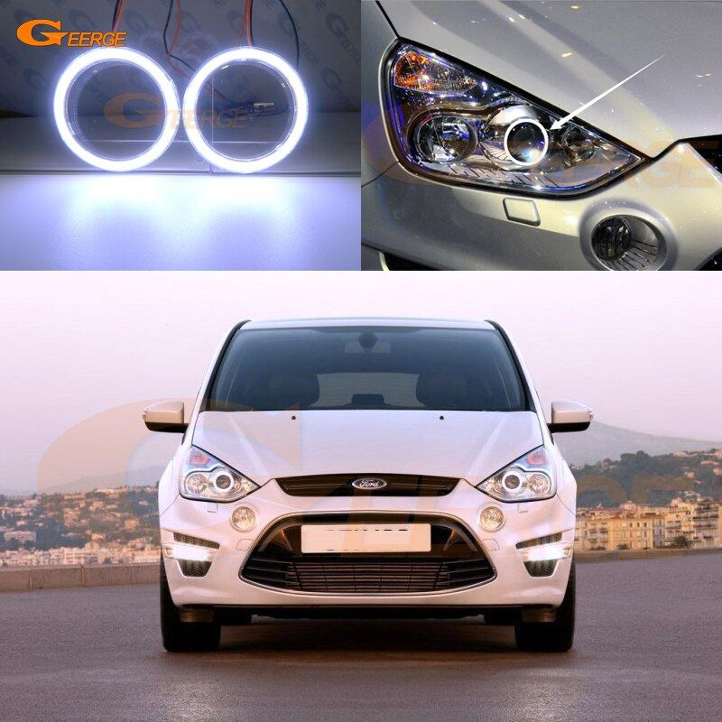 Cheap Car Light Assembly Buy Directly From China Suppliers For Ford S Max 2006 2014 Xenon Headlight Excellent Angel Eyes Ultra B Car Led Angel Eyes Car Lights