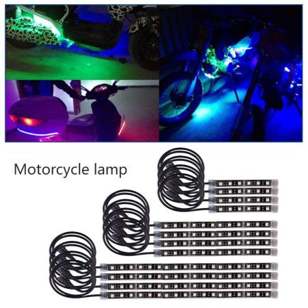 Led Light Strips Walmart 12 Pcs Motorcycle Waterproof Multi Color Rgb 18 Colors Led Light