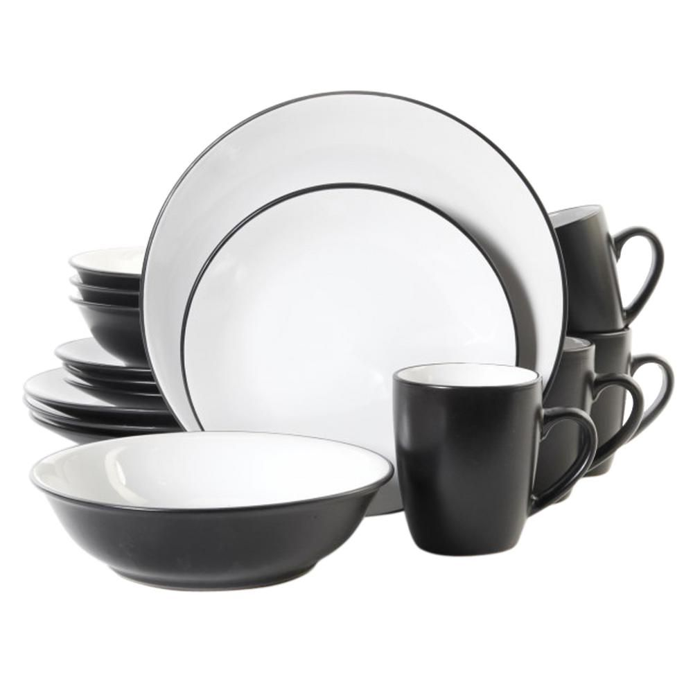 Vivendi 16-Piece Dinnerware Black andWhite Two Tone Dinnerware Set  sc 1 st  Pinterest & Vivendi 16-Piece Dinnerware Black andWhite Two Tone Dinnerware Set ...