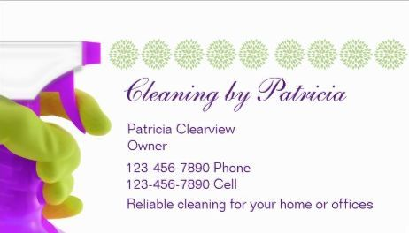 cleaning business cards | Elegant Cleaning Service White Bokeh ...