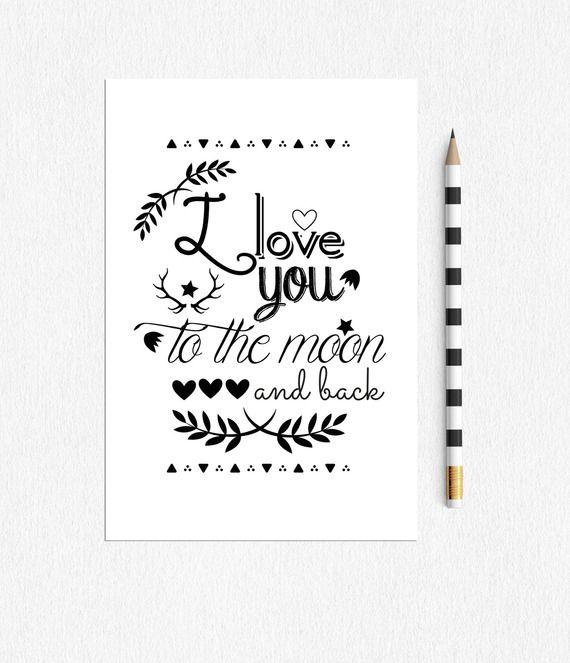 Carte Postale I Love You To The Moon And Back Carte Postale