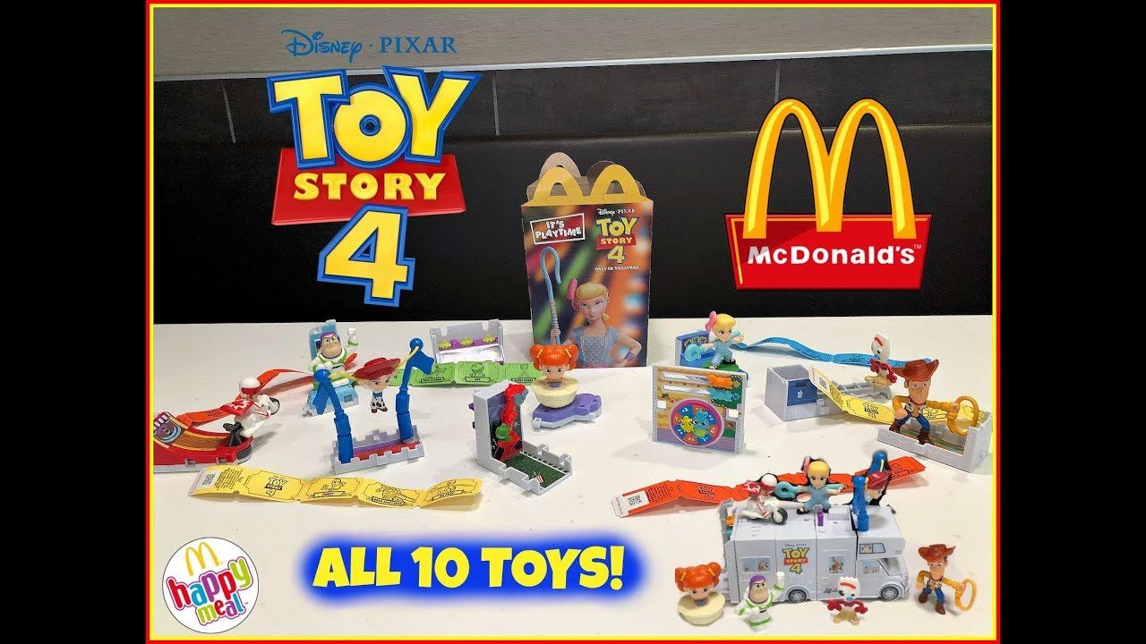 Toy Story 4 Movie Mcdonalds Happy Meal Toys June 2019 All 10 Toys Youtube Happy Meal Toys Happy Meal Mcdonalds Happy Meal