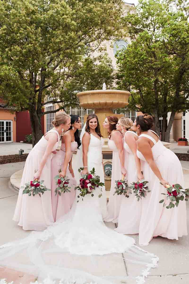 Blush bridesmaid dresses and bouquets by fh weddings events blush bridesmaid dresses and bouquets by fh weddings events loews portofino bay hotel wedding ombrellifo Image collections