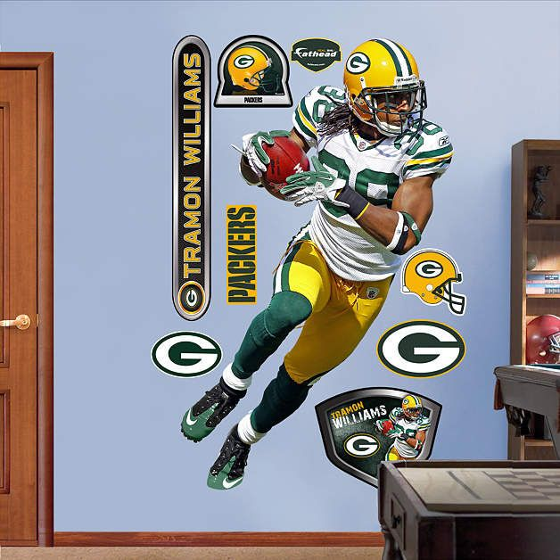 Fathead Green Bay Packers Tamron Williams Graphic - Wall Sticker Outlet