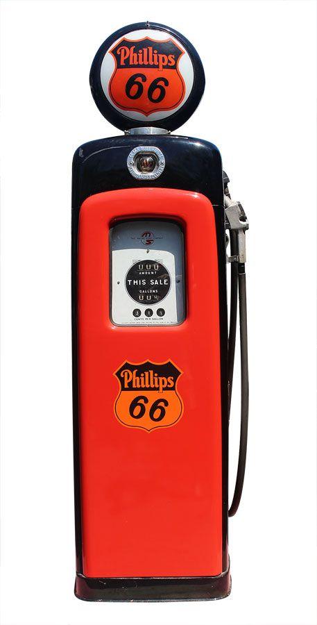 vintage phillips 66 wayne 80 gas pump this is great looking 1950u0027s restored gasu2026