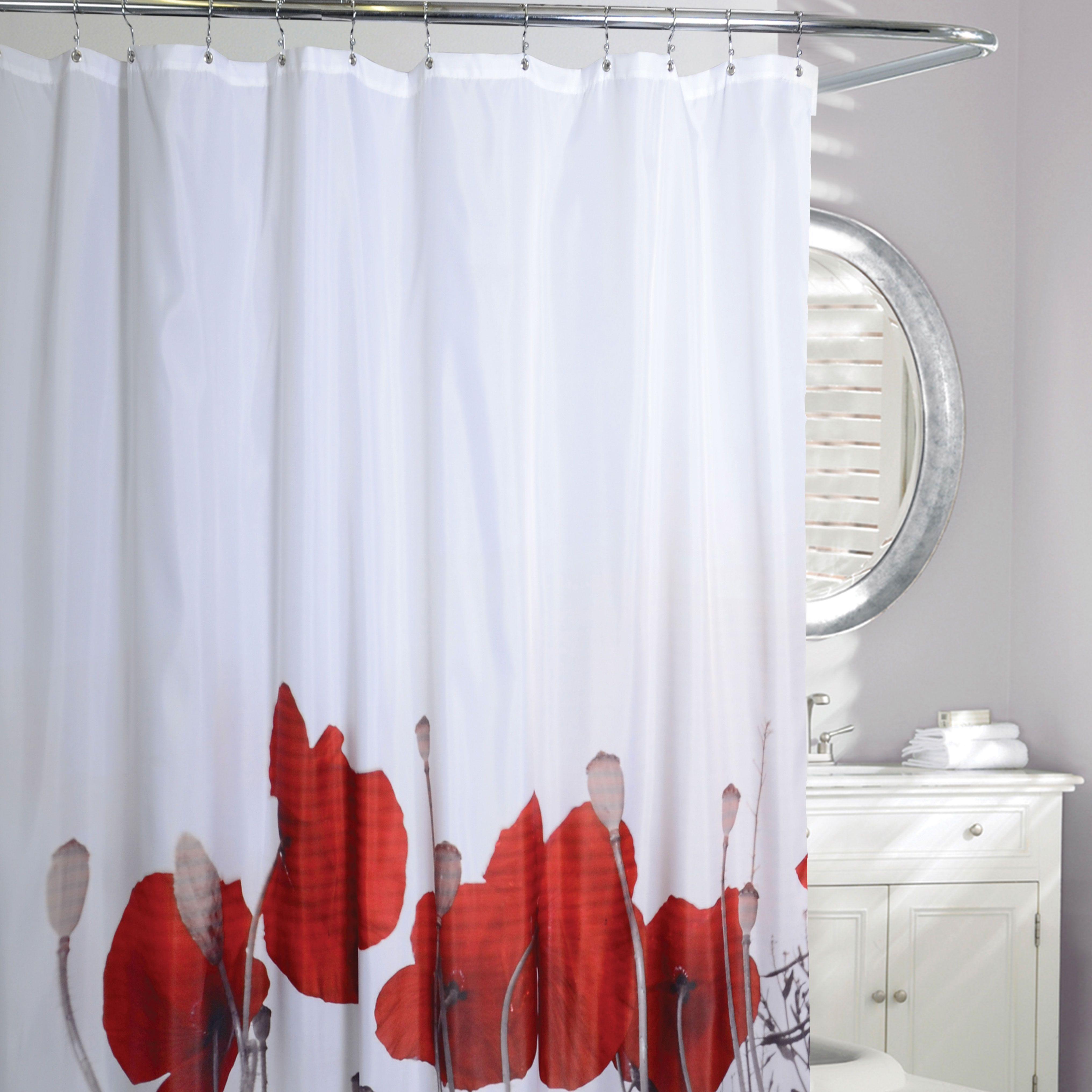 linen chest rideau de douche en tissu Â« poppy fields Â