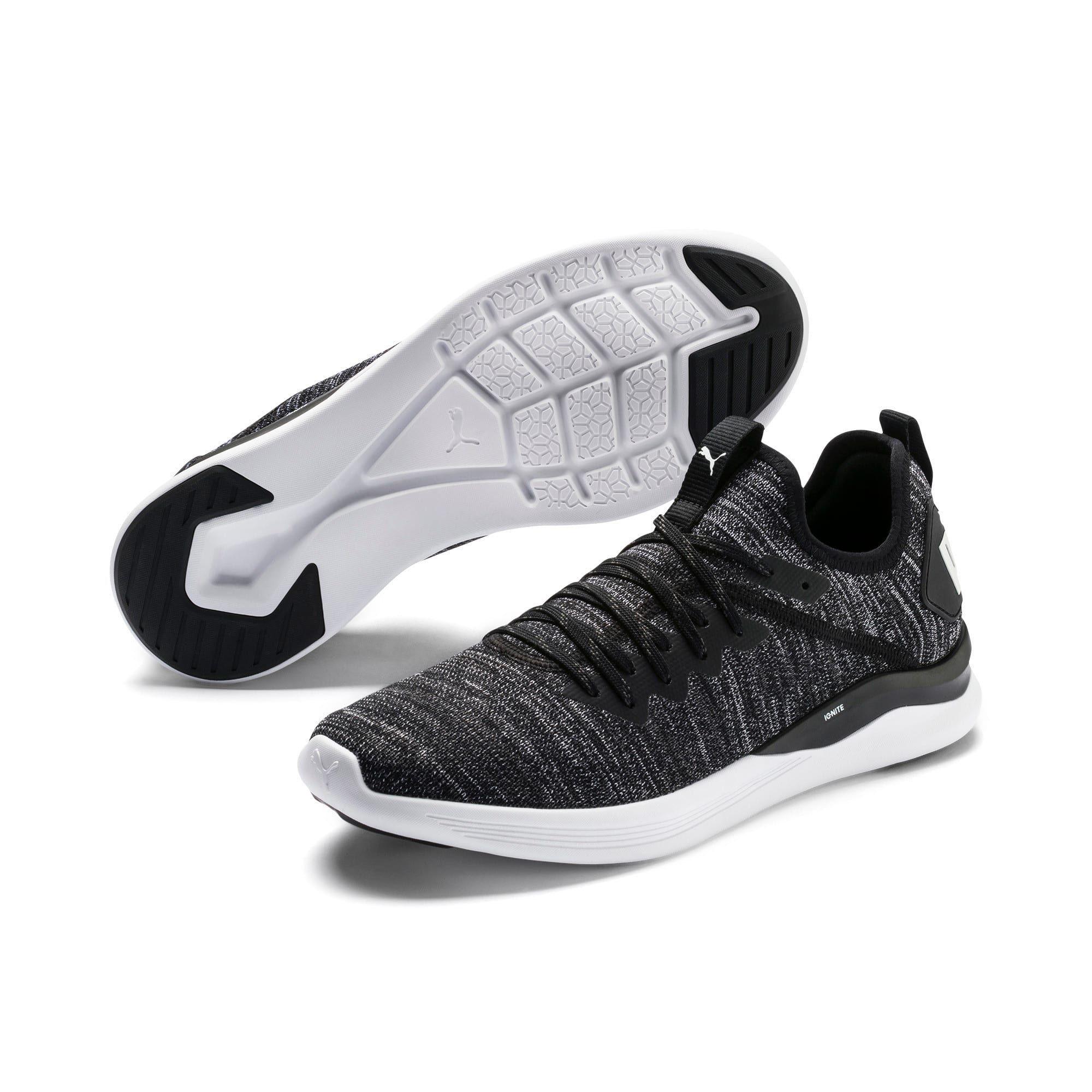 IGNITE Flash evoKNIT Men's Training Shoes | Black-Asphalt-White | PUMA New Arrivals | PUMA United Kingdom #nikefreeoutfit