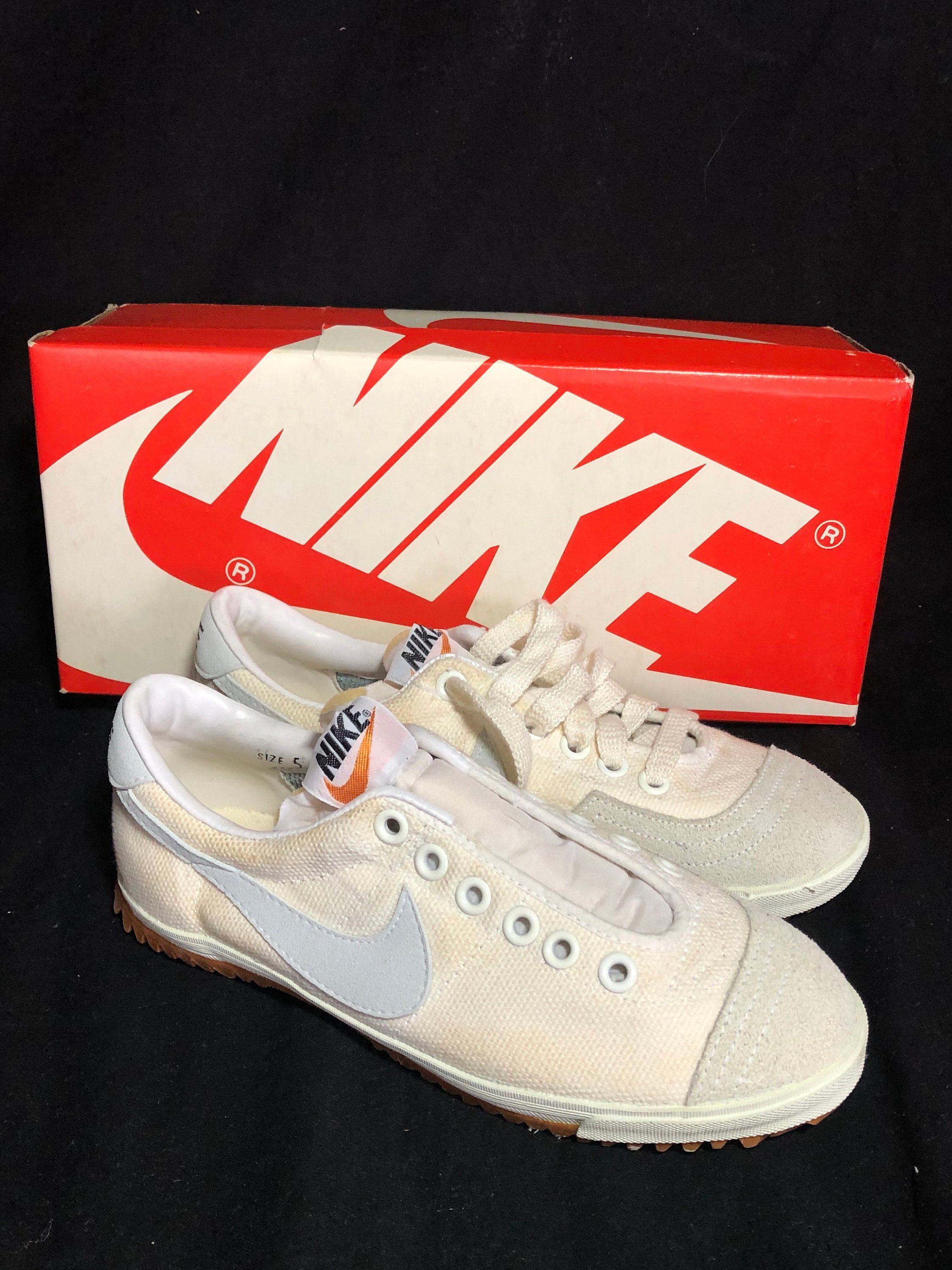 info for e03df 205b7 Vintage 1980s Nike Women s Shoes Size 5 Deadstock With Box Classic Swoosh  by RockingItOldSkool on Etsy