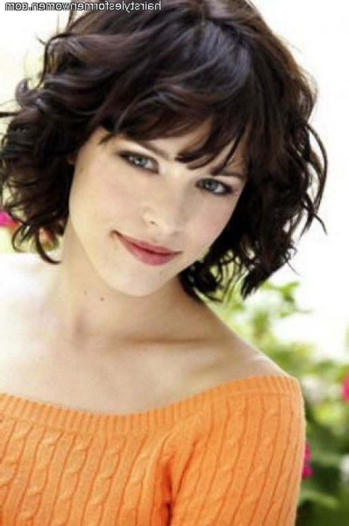25 Short Hairstyles For Thick Hair Thick Curly Hair Curly Hair Short