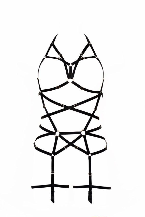 Longline Black Harness