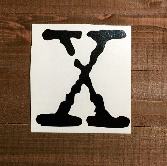 The x files decal by vinylstitches on etsy