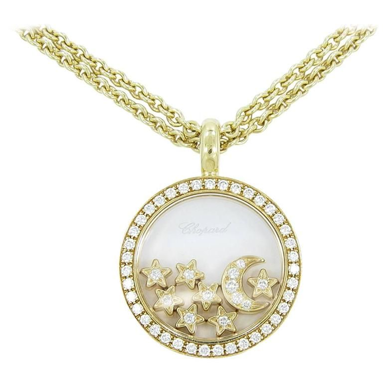Chopard happy diamond moon and stars necklace star necklace chopard happy diamond moon and stars necklace aloadofball Image collections