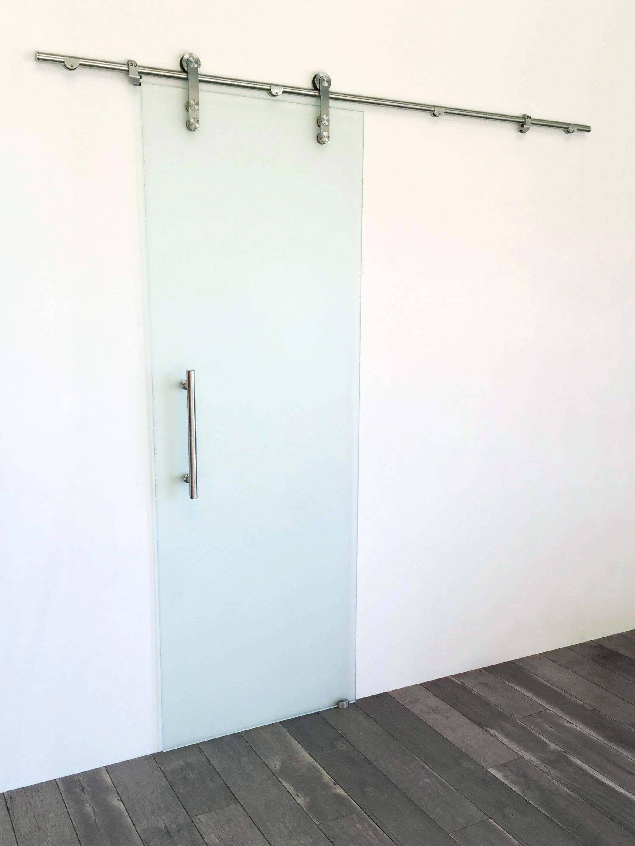 Stainless Steel Frameless Single Puertas Corredizas Puertas Y Aluminio