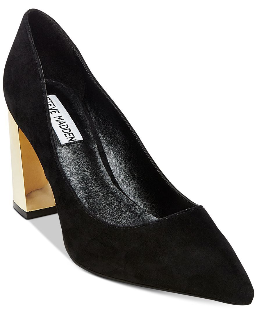 7a7748fb9d8 Steve Madden Women's Pointer Pointed-Toe Block-Heel Pumps | Products ...