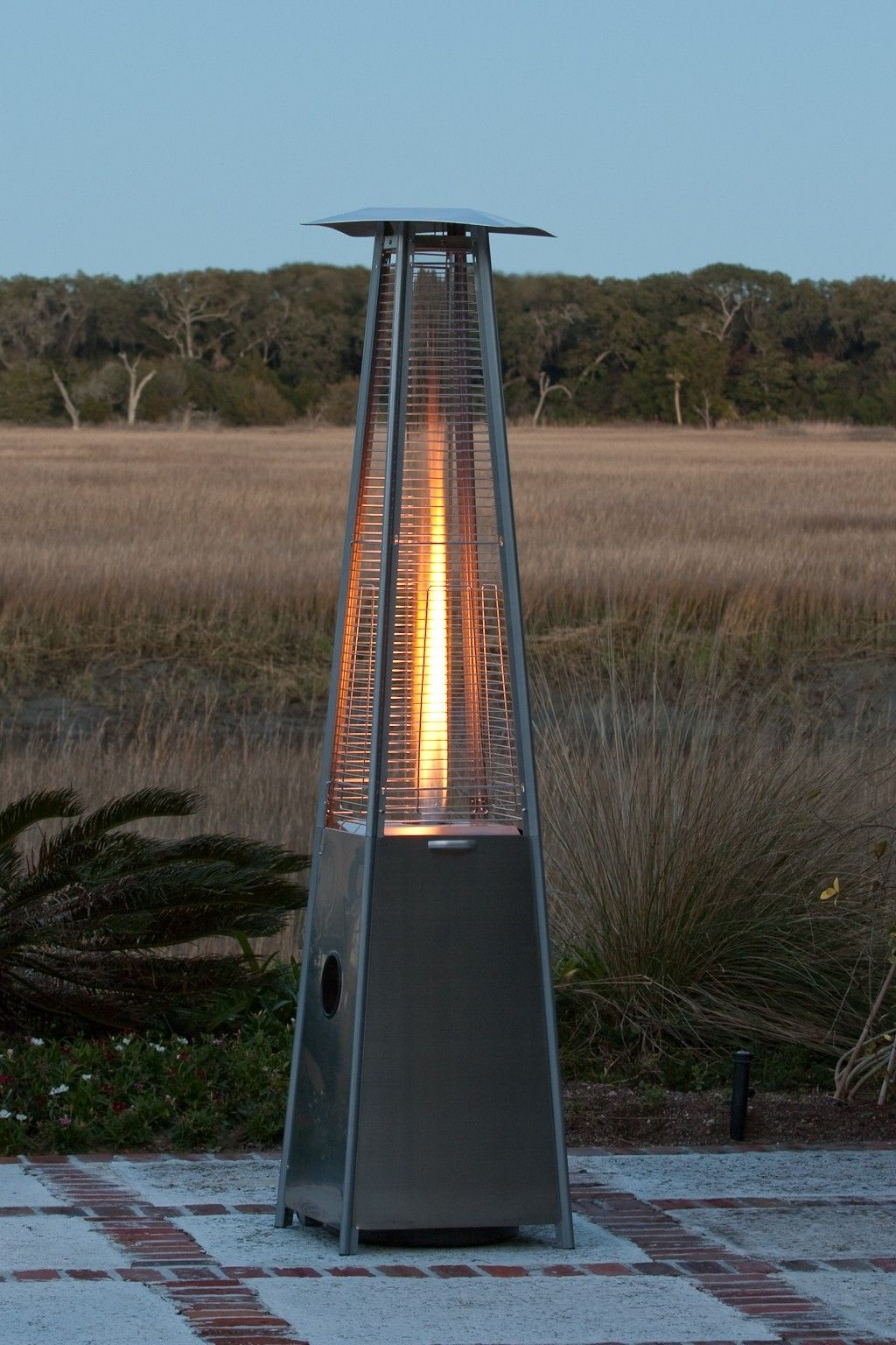 Delightful Fire Sense Pyramid Flame Propane Patio Heater | Wayfair $331 40,000 BTU