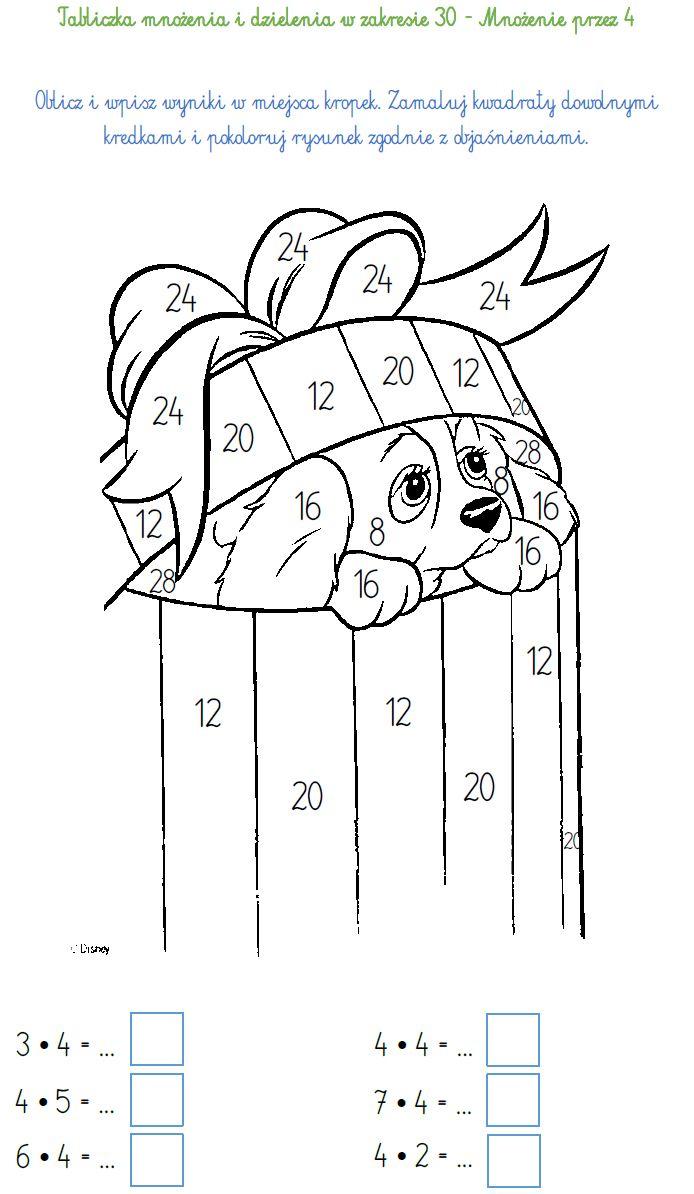 Blog Edukacyjny Dla Dzieci Tabliczka Mnozenia I Dzielenia W Zakresie 30 Mnozenie Przez 4 Multiplication Education Number Worksheets