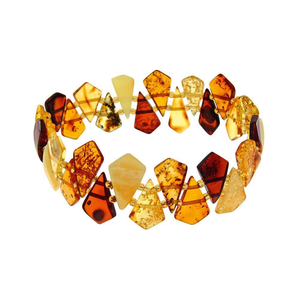 Nature d'Ambre - 3180556 - Bracelet Femme - Élastique - Ambre Multicolore: Amazon.fr: Bijoux