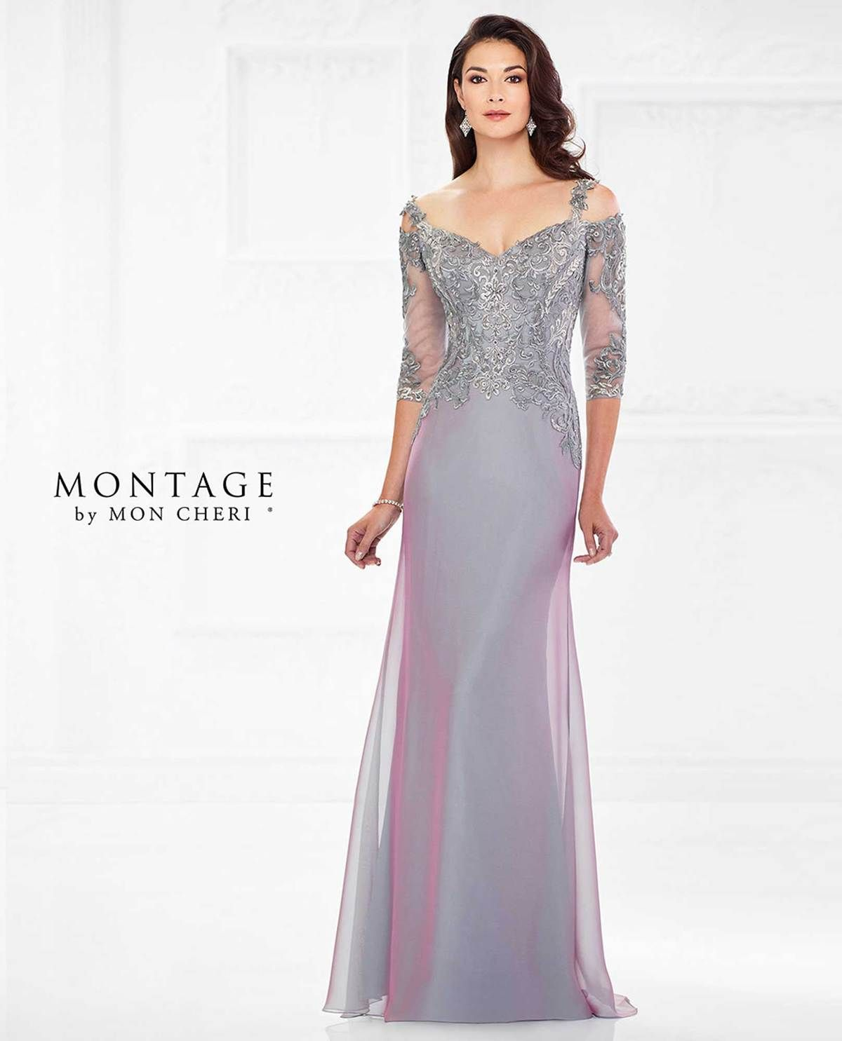 1f6e7e4258c Gorgeous purple cold shoulder mother of the bride gown with hand beading   theclothingcove  moncheri