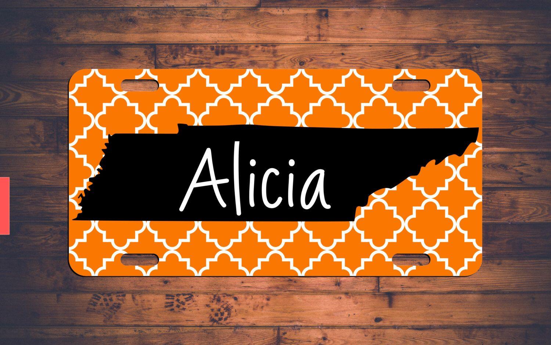 Tennessee Monogram License Plate TN Custom Car Tags Monogrammed ...