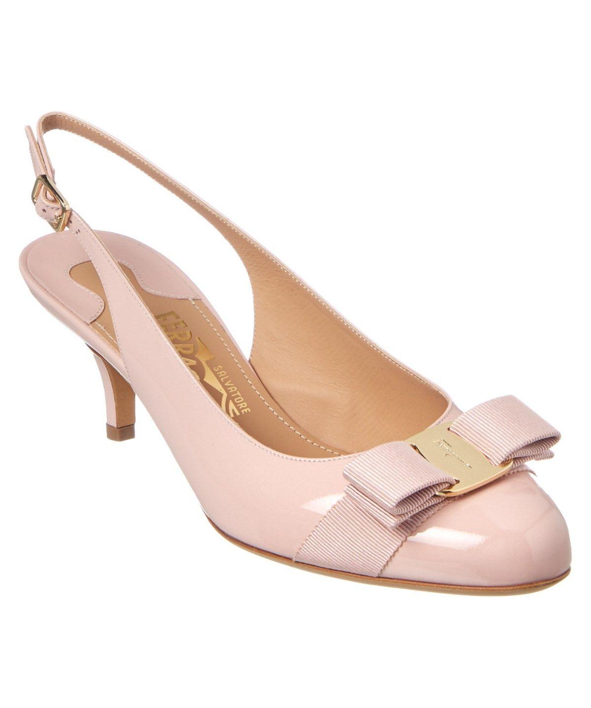 e38cf5ec63a SALVATORE FERRAGAMO SALVATORE FERRAGAMO PATENT SLINGBACK KITTEN HEEL PUMP .   salvatoreferragamo  shoes  pumps   high heels