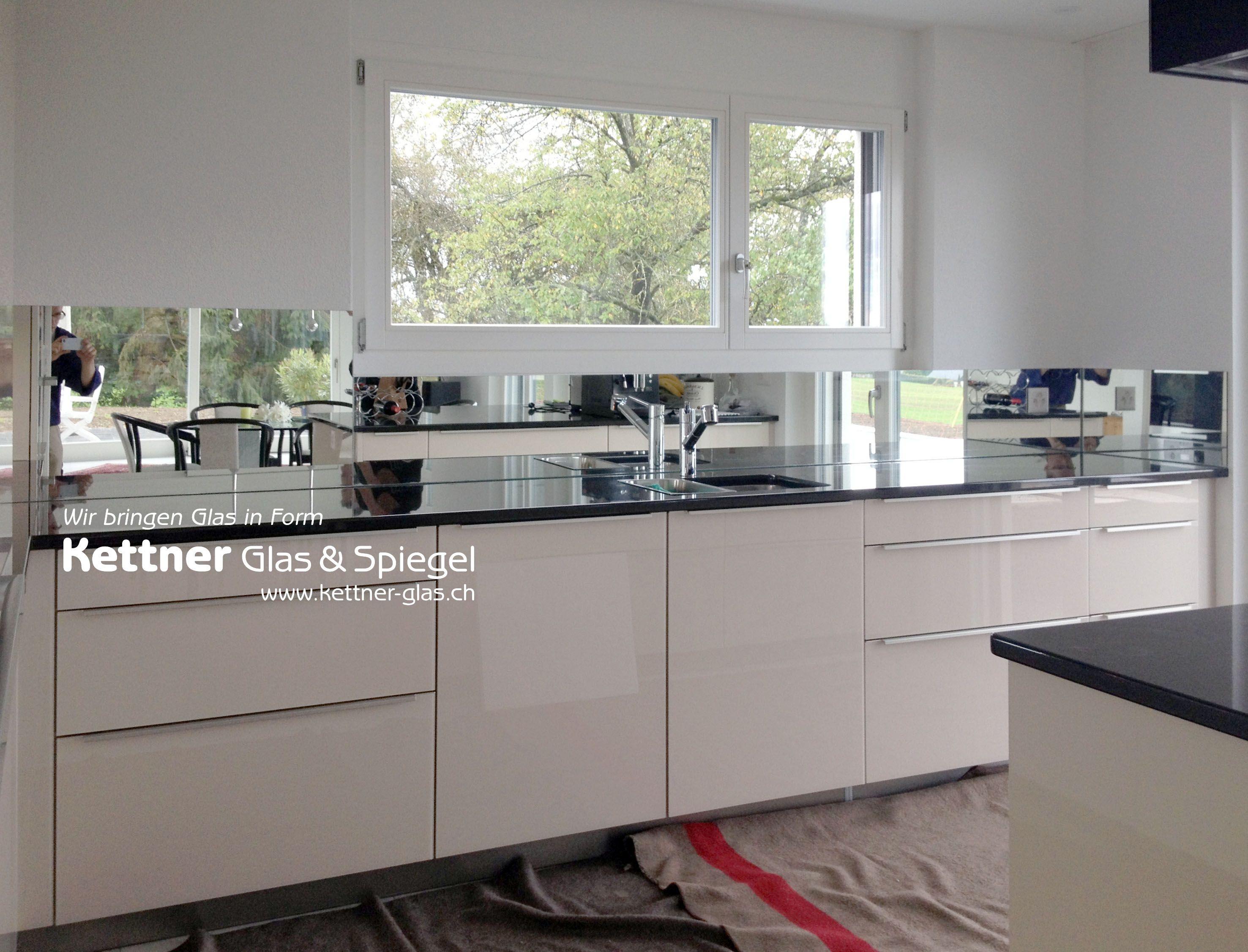 Küchenrückwand aus #Spiegel: #Spiegelküchenrückwand! Als ...