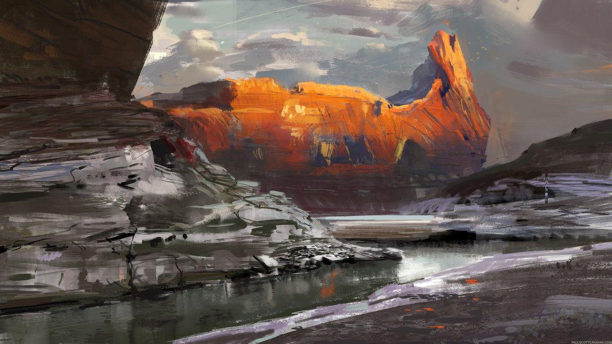Untitled by abigbat on deviantART | Landscape paintings ...