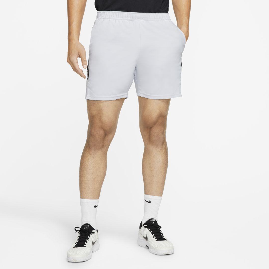 Nikecourt Dri Fit Men S 7 Tennis Shorts Sky Grey In 2020 Tennis Shorts Mens Fitness Shorts