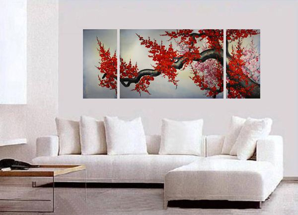 Modern Wall Art Décor Japanese Cherry Blossom Painting